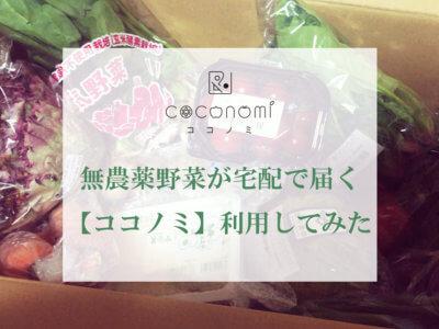 有機・無農薬野菜の食材宅配サービス『ココノミ』を使ってみた